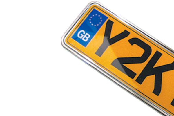 Jaguar XE Rear Shaped Number Plates